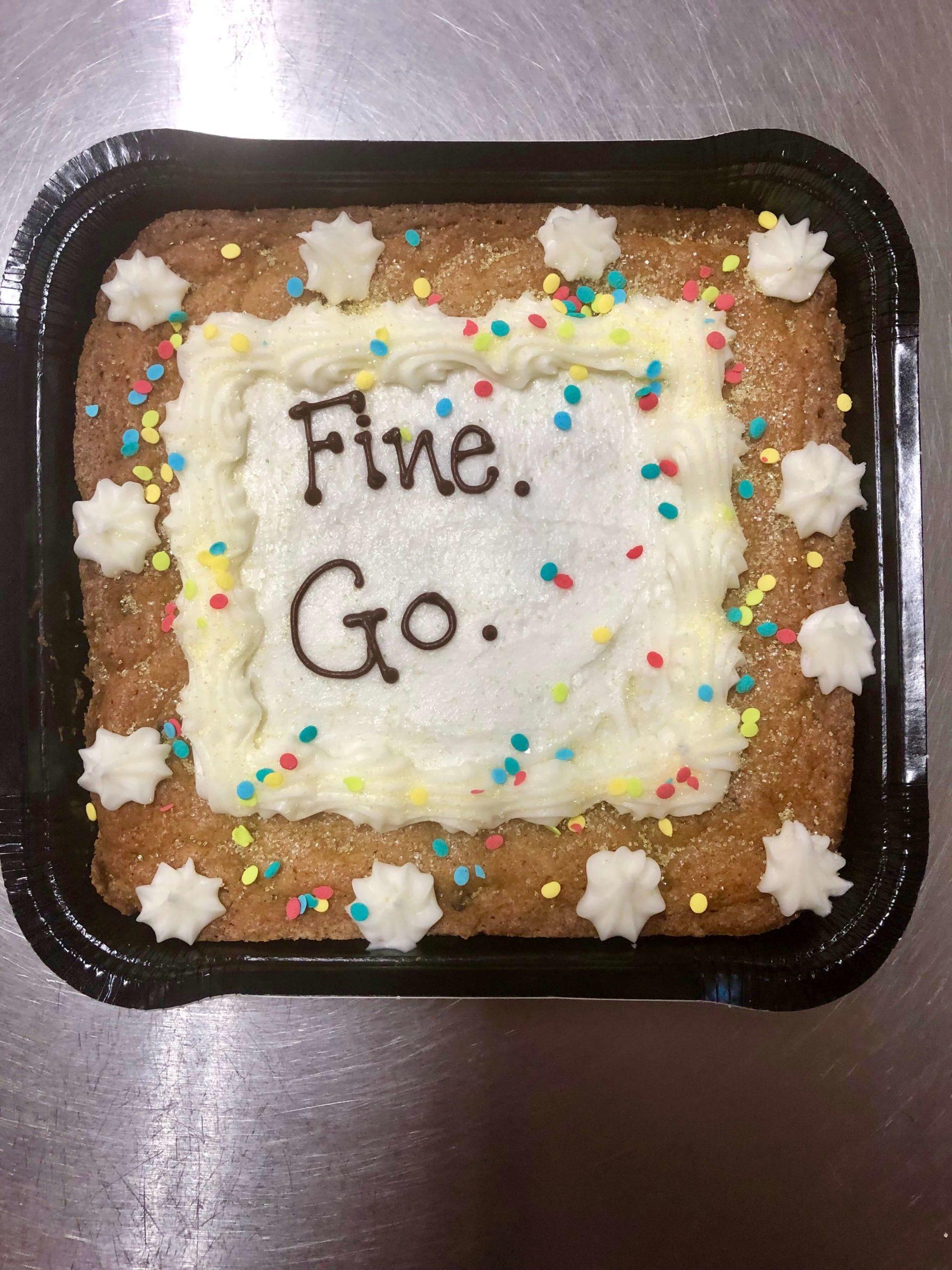 Fine. Go. CookieText